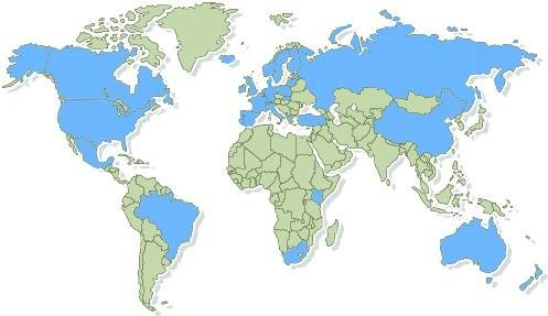 Worldwide users of AquarioGest software
