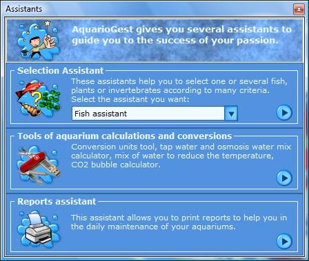 Aquarium calculator software - AquarioGest
