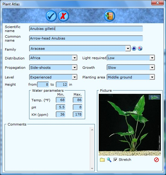 Adapt the aquarium plant data